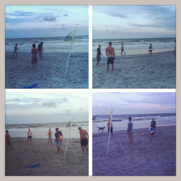 Every evening led to an exciting game of beach volleyball