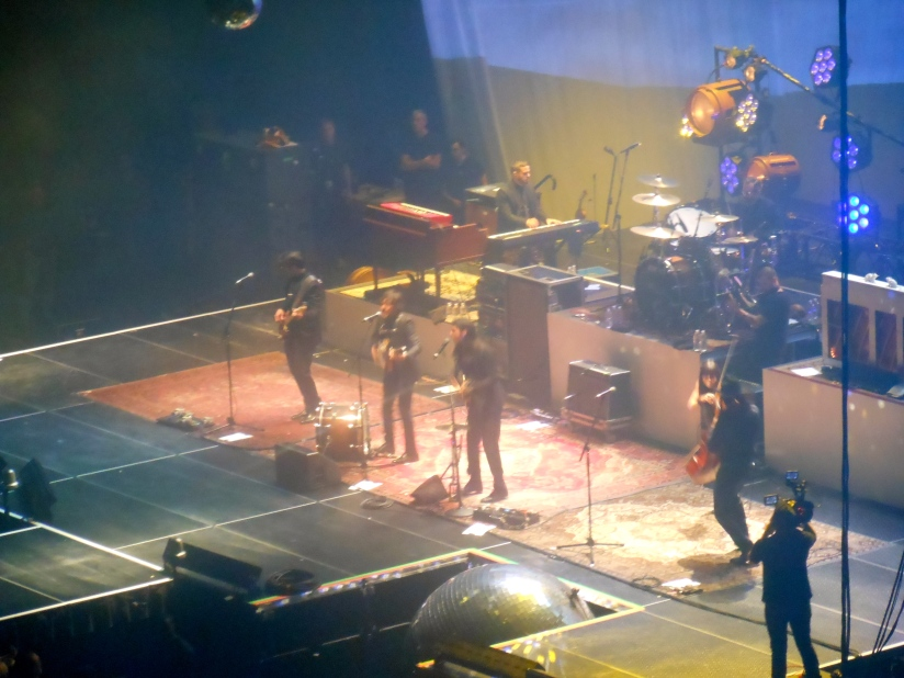 The Avett Brothers (you can see where the mirror ball fell)