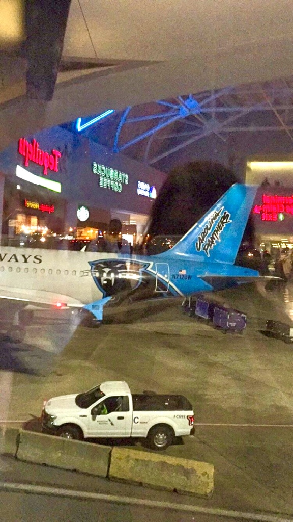 The Panther's plane in CLT